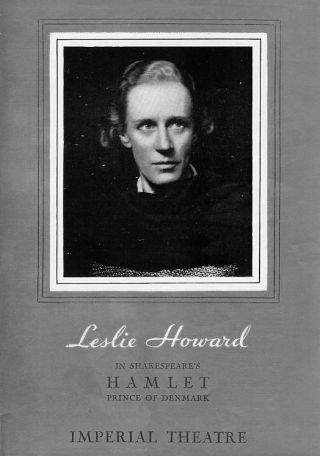 Leslie Howard in Hamlet, 1936