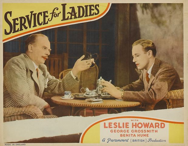 Service for Ladies, Lobby Card