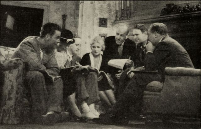 Director and cast studying the script of The Animal Kingdom