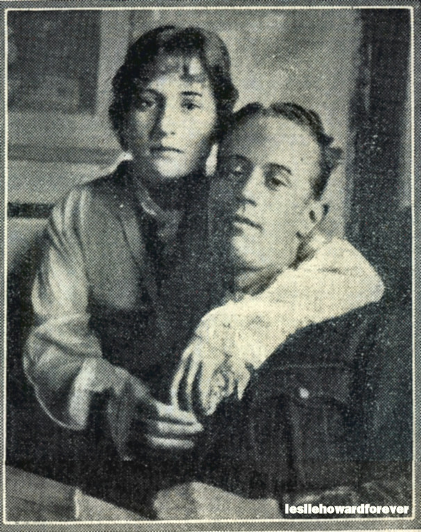 Leslie Howard and his sister Irene