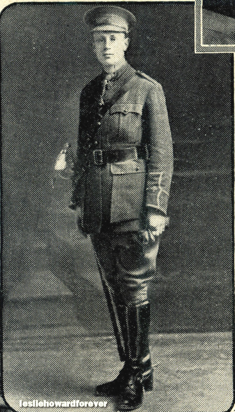 Leslie Howard in his uniform