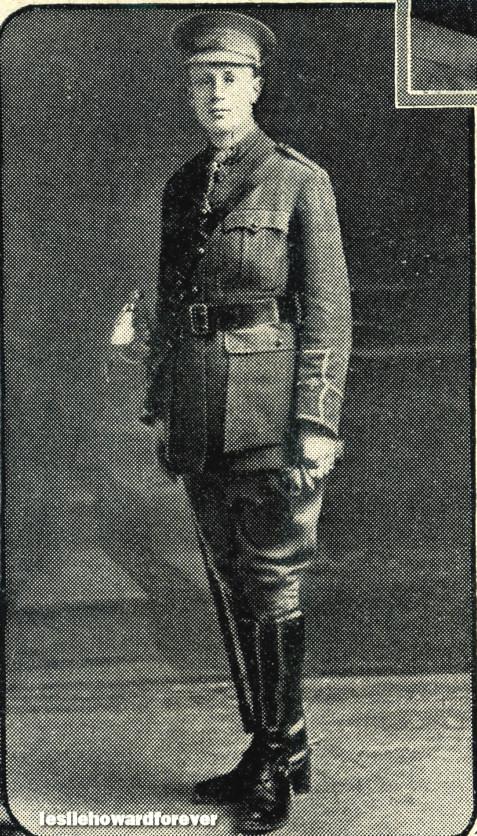 Leslie Howard in his uniform