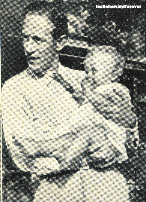 Leslie Howard and his daughter Doodie