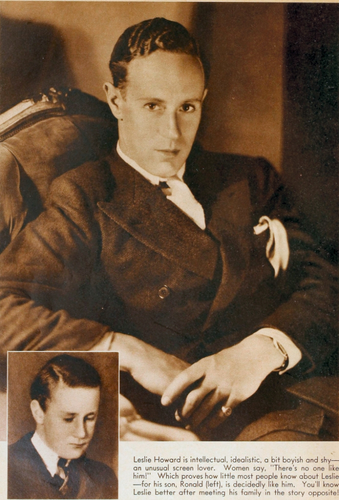 Leslie Howard and his son Ronald