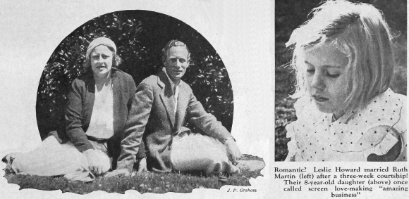 Leslie Howard, his wife Ruth and daughter Leslie Ruth