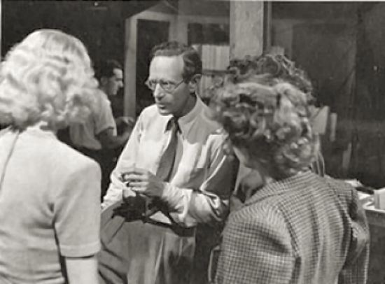 Leslie Howard on the set of The Gentle Sex