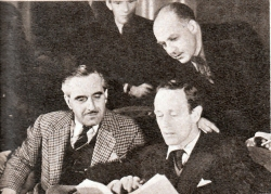 "Leslie Howard discussing the script of ""Pimpernel Smith"""