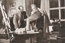 Leslie Howard and art director Duncan Sutherland