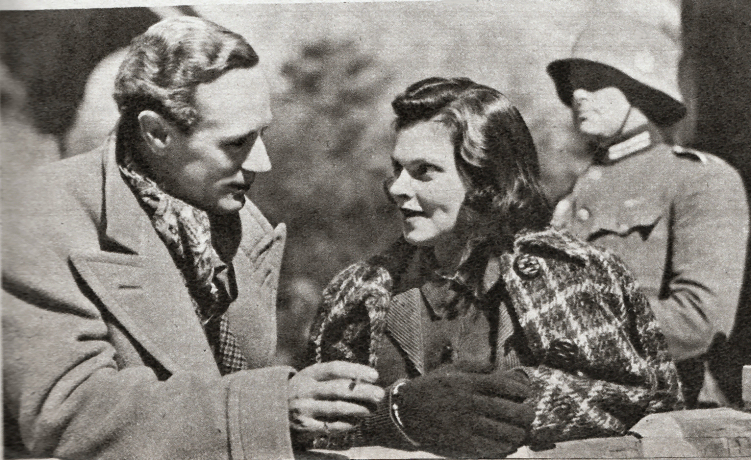 """Leslie Howard and Mary Morris in """"Pimpernel Smith"""""""
