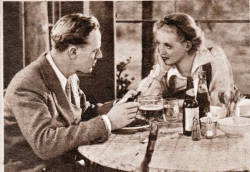 "Leslie Howard and Bette Davis in ""The Petrified Forest"""