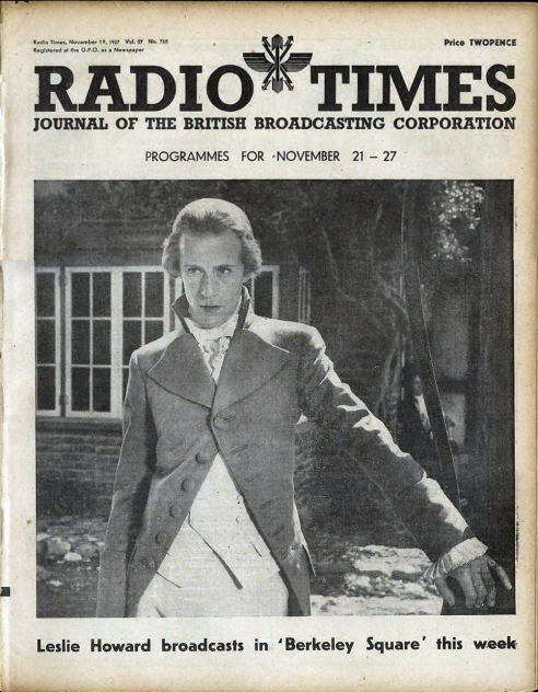 Leslie Howard on Radio times 1937