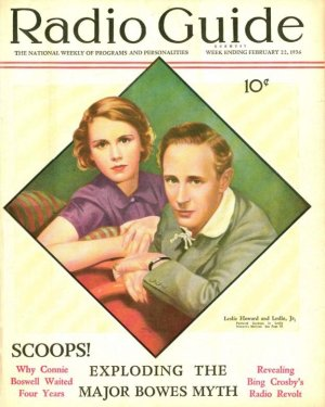 Leslie Howard on Radio Guide cover