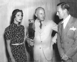 With Cecil B. De Mille