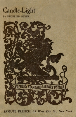 Cover of the Samuel French edition of Candle-light