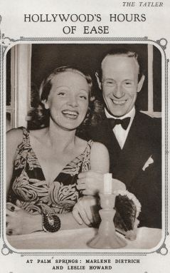 Leslie Howard and Marlene Dietrich