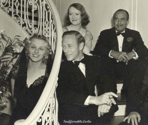 With Ilona Massey, Mary Astor and Douglas Fairbanks Sr.