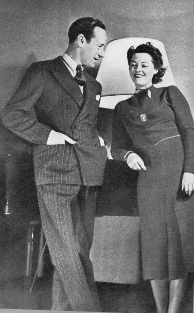 Leslie Howard and Marie Glory