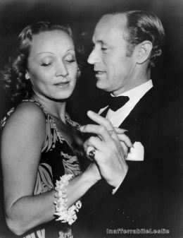 Marlene Dietrich and Leslie Howard