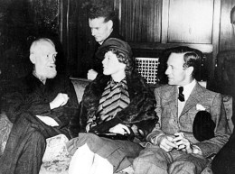 Leslie Howard with George Bernard Shaw, Anthony Asquith and Wendy Hiller, 1938