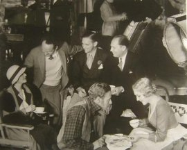 Leslie Howard on the set of Secrets