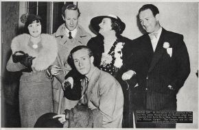 Leslie, Ruth and Ronald Howard with Mary and William Gargan