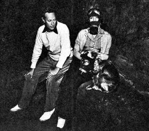 Leslie Doodie and dog with gas masks