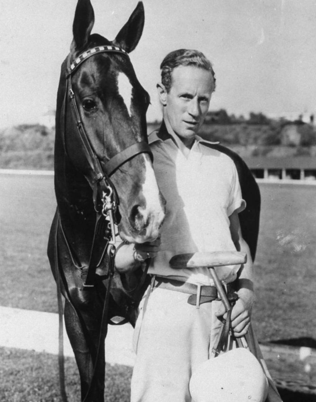 Leslie Howard on the polo field