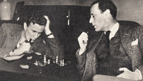 Ronald and Leslie Howard Playing Checks