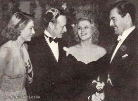 With Violette at a party in Hollywood, 1939