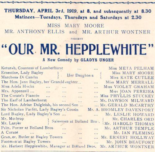 Our Mr. Hepplewhite