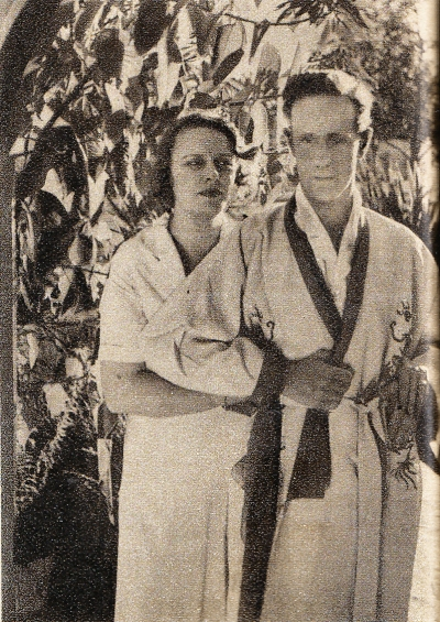 Leslie Howard and his wife Ruth