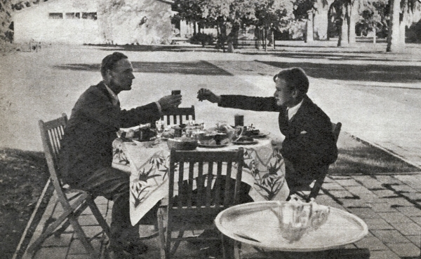 Leslie Howard and Ronald Howard