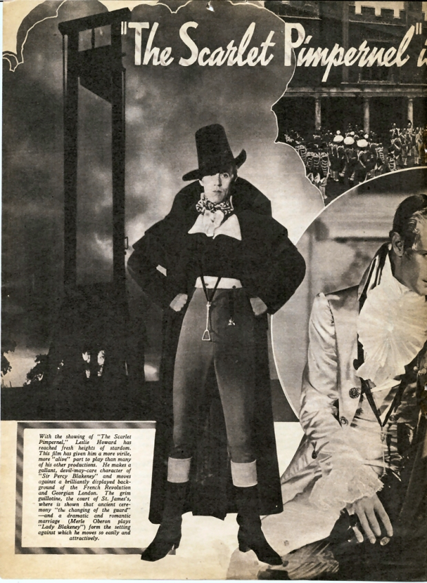 Leslie Howard in The Scarlet Pimpernel
