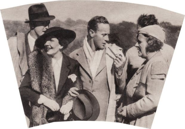 Leslie Howard with Claudette Colbert