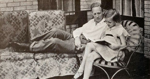 Leslie Howard and his daughter Leslie Ruth