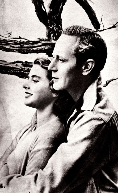 Ingrid Bergman e Leslie Howard