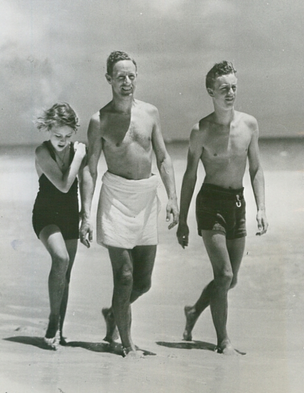 Leslie, Doodie and Winkie, Bermuda, 1935