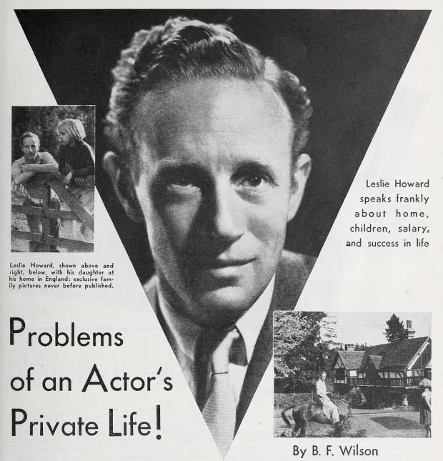 leslie howard screenland july 1935