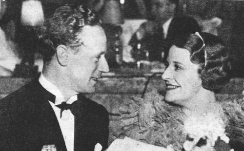 Leslie Howard and his wife