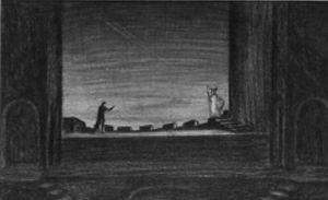 Stewart Chaney's Set Design for Leslie Howard's Production of Hamlet, 1936