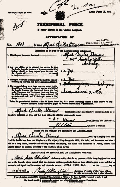 enlistment 1915