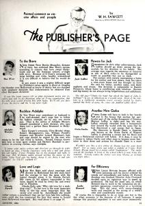 Hollywood, August 1938