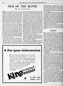 Documentary Newsletter, September 1942