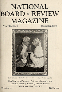 National Board of Review Magazine, November 1933